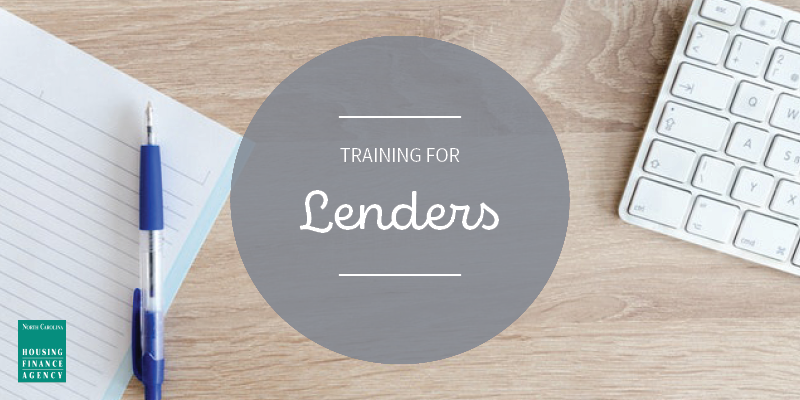 Graphic that says training for lenders