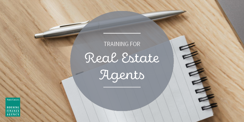 Graphic that says Training for Real Estate Agents