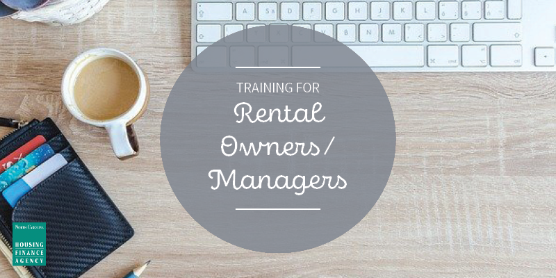 Graphic that says Training for Rental Owners/Managers