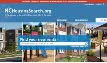 the home page of NCHousingSearch