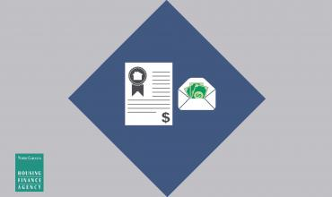 a contract and money graphic