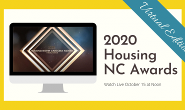 Housing NC Awards Logo with a yellow border