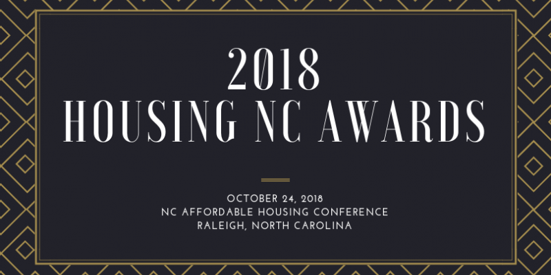a banner that says 2018 Housing NC Awards