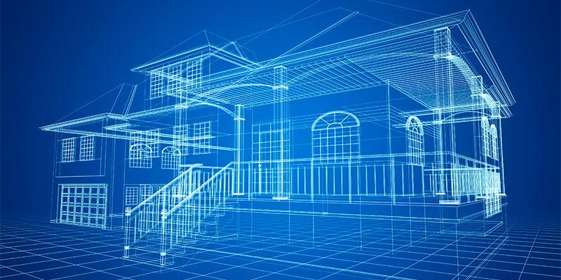 blueprints of a home