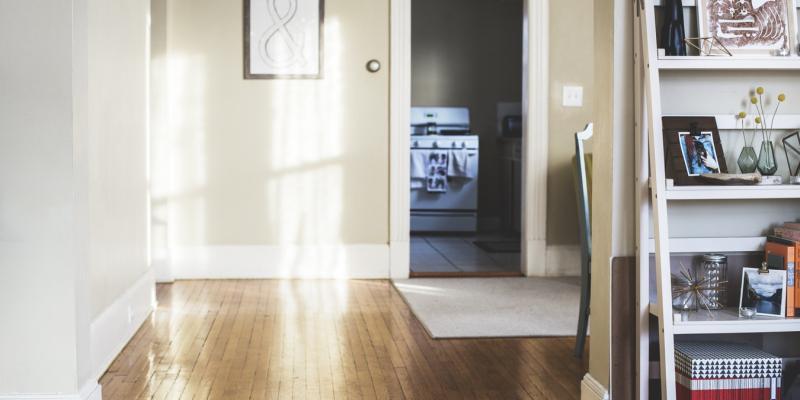 A door inside a home