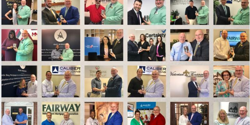 a grid with photos of winning loan officers