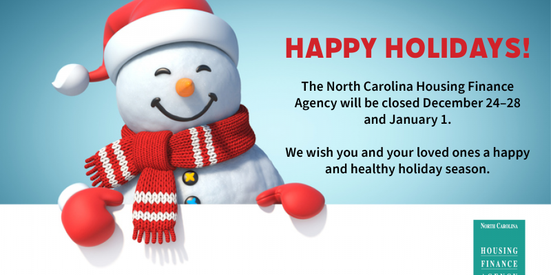 Snowman wishing a happy holiday